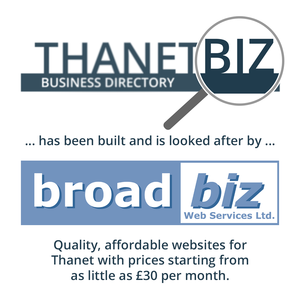 Thanetbiz Business Directory has been built and is looked after by broadbiz Web Services